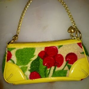 Handbags - Yellow cherry juicy couture clutch